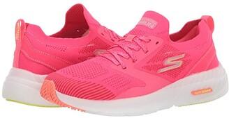 Skechers Go Run Smart (Gray/Hot Pink) Women's Running Shoes