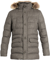 Herno Fur-trimmed silk and cashmere-blend padded parka