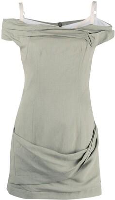 Jacquemus Twist-Detail Off-Shoulder Dress