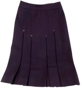 Celine Purple Wool Skirt