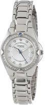 Bulova Caravelle by Women's 43L121 Crystal Bracelet Watch Silver Dial