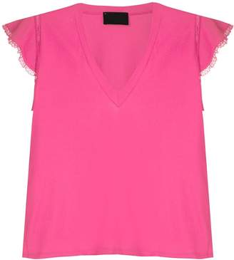 Andrea Bogosian lace appliqué blouse