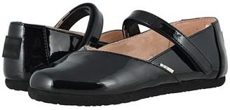 TOMS Kids Keesha (Little Kid/Big Kid) (Black Patent Synthetic) Girl's Shoes