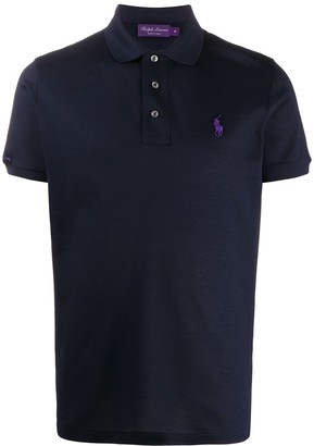 Ralph Lauren Purple Label Logo Embroidered Polo Shirt