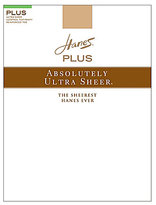 Hanes Plus Sheer Control Top Pantyhose