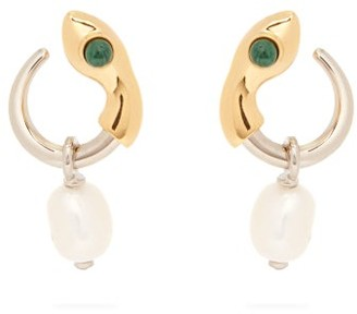 Chloé Callie Snake Hoop Earrings - Womens - Gold