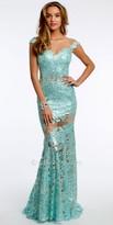 Jovani Embellished Floral Illusion Prom Dress
