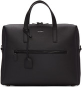 Saint Laurent Black Leather Briefcase