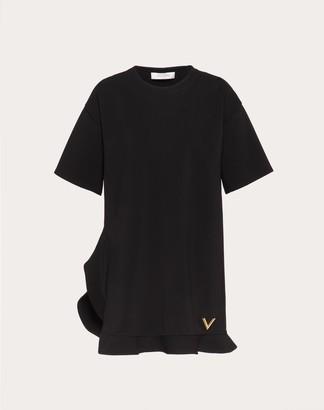 Valentino Vgold Crepe-jersey Tunic Dress Women Black Viscose 75%, Elastane 8% L