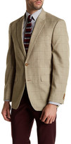 Tommy Hilfiger Tan Windowpane Two Button Notch Lapel Jacket