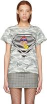 Marc Jacobs Grey Julia Verhoeven Edition Camo Mouth T-Shirt