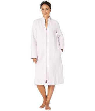 Carole Hochman Quilted Diamond Long Sleeve Long Zip Robe