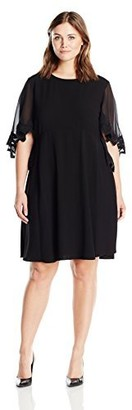 Taylor Dresses Women's Plus Size Embroidered Caplet Dress