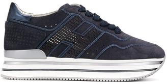 Hogan Lace-Up Platform Sneakers