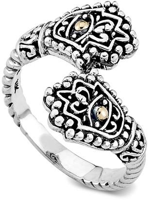 Samuel B. Sterling Silver & 18K Gold Hamsa Bypass Ring