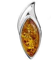 Ostsee-Schmuck Women's Pendant 925 / 000 Sterling Silver with Amber 001 203373 0001