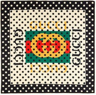 Gucci vintage logo polka dot shawl