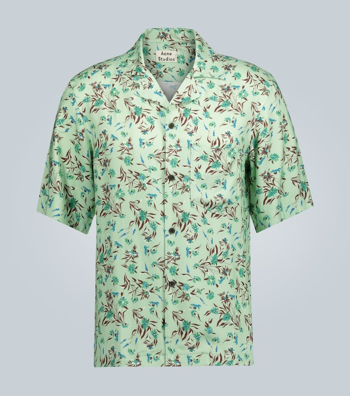 Acne Studios Simon floral short-sleeved shirt