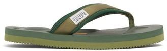 Suicoke Tono Logo-tab Canvas Flip-flops - Green