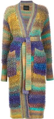 Roberto Collina boucle wool belted cardigan