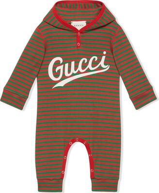 Gucci Kids Striped Logo-Print Bodysuit