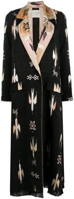 Forte Forte Embroidered Single-Breasted Coat