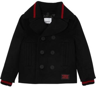 BURBERRY KIDS Detachable Knit-Collar Coat