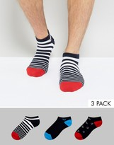 Pringle Invisible Sneaker Socks In 3 Pack