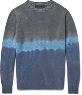 The Elder Statesman Dégradé Cashmere Sweater