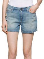 Calvin Klein Distressed Cotton Denim Shorts