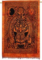 Ibacrafts Horoscope Indian Hanging Cotton Wall Tapestry Twin Decor Throw