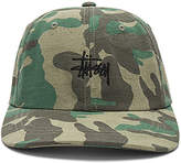 Stussy Jacquard Camo Low Cap in Army.