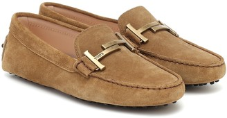 Tod's Gommino Double T suede loafers