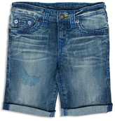 True Religion Boys' Geno Faded Cuffed Shorts - Little Kid