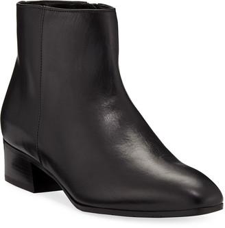 Aquatalia Fuoco Leather Ankle Boots