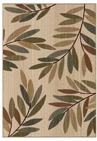 Orian Tangled Leaves Beige Rug