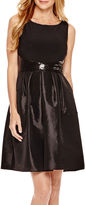 R & M Richards R&M Richards Sleeveless Sequin-Waist Fit-and-Flare Dress - Petite