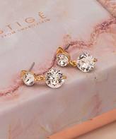Swarovski Mestige Women's Earrings GOLD - Goldtone Natalie Earrings With Crystals