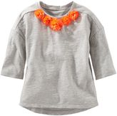 Osh Kosh Toddler Girl Rosette Tee