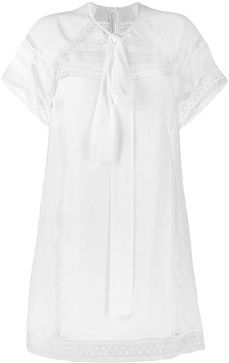 Ermanno Scervino lace detail mini dress
