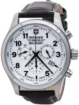 Wenger Terragraph Chrono Watch - Leather Strap (For Men)