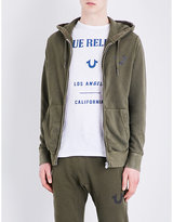 True Religion Logo-print Cotton-jersey Hoody