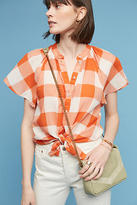 Maeve Gingham Flutter Top