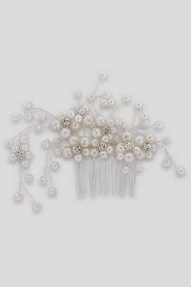 Silver Pearl And Diamante Hair Slide