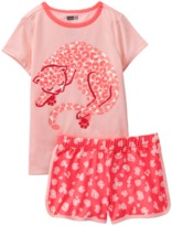 Crazy 8 Leopard 2-Piece Shortie Pajama Set