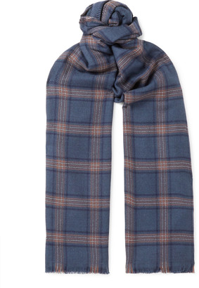 Brioni Checked Virgin Wool Scarf