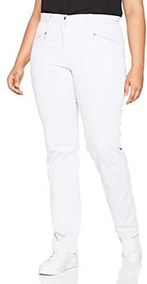 Ulla Popken Women's Stretchhose Mony L Trousers, (White 20)