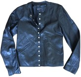 agnès b. Black Leather Jacket for Women