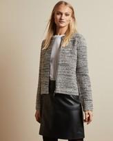 Ted Baker HELYINN Knitted boucle zip jacket