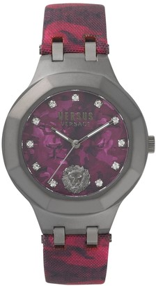 Versus By Versace VSP350117 Women's Analogue Quartz Movement Watch with Camouflage Red Strap Laguna City Military